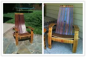 how to build a beautiful wine barrel adirondack chair how to