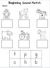 free worksheets beginning sounds kindergarten free math