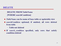 Delete All Rows From Table Chapter 6 Sql Data Manipulation Cont U0027d 2 Any And All U Any And