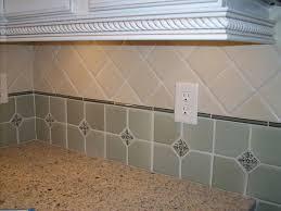 Kitchen Backsplash Tile  Layout And Design Options - Square tile backsplash