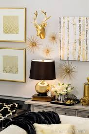 Black And Gold Wall Decor Captivating Loving These Black White And
