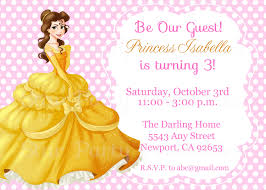 princess belle beauty u0026 the beast invitation kid u0027s