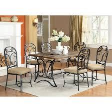 Acme Furniture Dining Room Set 71125 Kiele Dining Table In Oak U0026 Antique Black Slate Top Insert