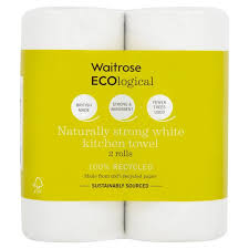 Waitrose ECOlogical White Kitchen Towels Recycled  Per Pack From - Waitrose kitchen table