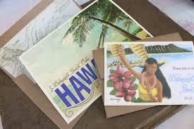 wedding invitations hawaii vintage travel postcard wedding invitation hawaii
