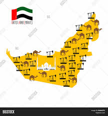 map of the uae map united arab emirates uae vector photo bigstock