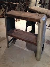 custom repurposed industrial shopmaster tool base sofa tables by