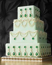 theme wedding cakes bejeweled wedding cakes martha stewart weddings
