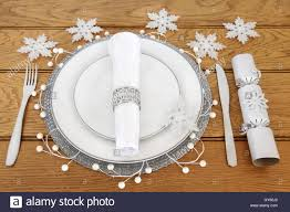christmas napkin rings table linens christmas dinner table setting with white porcelain plates cutlery