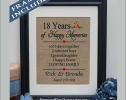 18th anniversary etsy