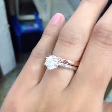 plain engagement ring with diamond wedding band pics solitaire e ring with plain wedding band
