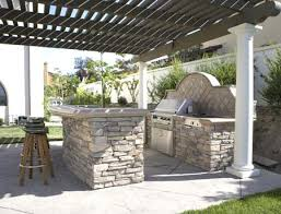 outdoor bbq kitchen ideas the green s award winning cast concrete counters and outdoor