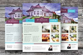 real estate flyer template vol 02 flyer templates creative market