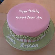 sweet birthday cakes for husband name wishes dp photos