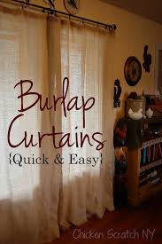 Brown Burlap Curtains Burlap Curtain Tutorial Burlap Pallets And Living Rooms