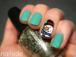 diy nail art sweet snowman manicure photo huffpost