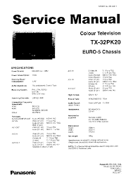 panasonic tv tx 32pk20 sm service manual free download schematics