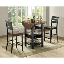 Drop Leaf Bistro Table Sunset Trading Quincy 3 Black Cherry Pub Table Set