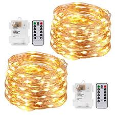 led christmas lights with remote control amazon com kohree string lights led copper wire fairy christmas