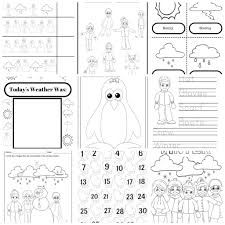 winter weather fun u2013 10 page educational activity pack for
