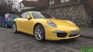 yellow porsche yellow porsche 911 991 s and bmw 335i 1080p hd
