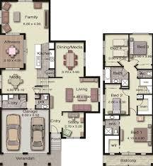 Floor Plans For Sloping Blocks by Plano De Lujosa Casa Moderna De 2 Plantas En Terreno Desnivelado 2