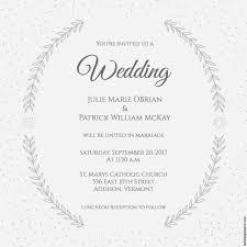 stylized laurels wedding invitation beautiful free invitation