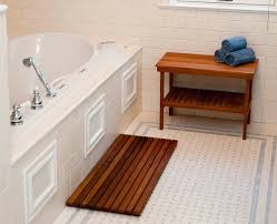 clean bath mat cool bathroom rugs west upside down clean teal bamboo shower mat and bench