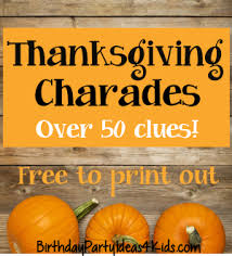 thanksgiving charades tweens and