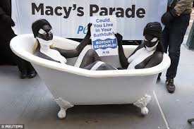 Wide Range Of Modern Bathtubs On Sale Leading Up To Thanksgiving Female Peta Protesters Oppose Seaworld U0027s Thanksgiving Day