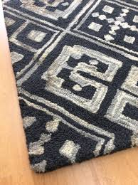 5 X 8 Area Rugs by Handmade Wool Viscose Modern Black Gray 5x8 Lt1071 Area Rug