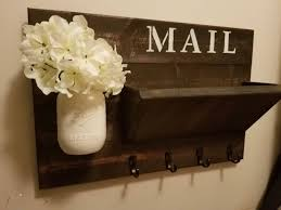 rustic key rack coat rack home signhome decor mail