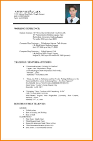 Best Resume Format For Gulf Jobs by Resume For Teachers Job Application How To Make A Resume Guide