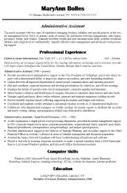 resume format administration manager job profiles occupations sle resume for international jobs best administrative assistant