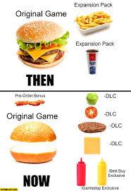 Burger Memes - game dlc meme