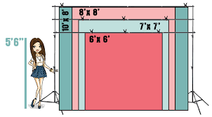 wedding backdrop measurements backdrop sizes