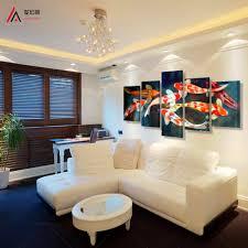 aliexpress com buy 5 panel canvas prints koi fish art chinese