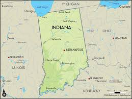 Map Of Illinois And Indiana by Map Of Indiana Map Travel Holiday Vacations
