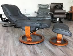 Burgundy Leather Chair And Ottoman Mayfair Paloma Rock Leather Recliner Chair And Ottoman By Ekornes