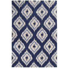 Gray Accent Rug Blue Ikat Rug Rugs Ideas