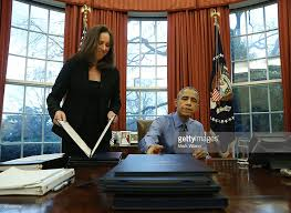 Gold Curtains In The Oval Office President Obama Signs Bills In The Oval Office Of White House