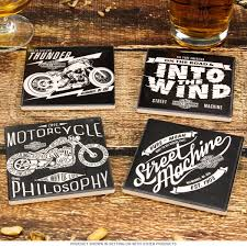 Drink Coasters by Harley Davidson Ceramic Table Coasters Set Of 4 Drink Coasters