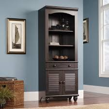 Sauder Harbor Bookcase Harbor View Library With Doors 401632 Sauder