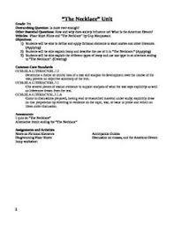 the necklace u201d teacher u0027s guide contains lesson plans with common