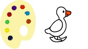 how to draw duck coloring pages for kids children and baby learn
