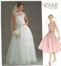 vogue wedding dress patterns vogue pattern 2892 bridal original wedding and bridesmaid gowns
