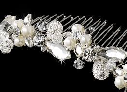 pearl hair comb swarovski pearl hair comb bridal hair accessories