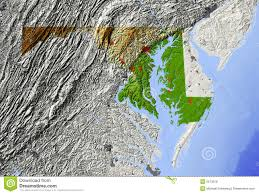 maryland map free maryland relief map stock illustration illustration of america