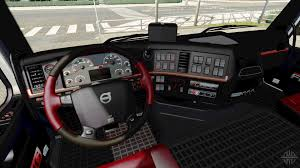 red volvo truck euro truck simulator 2 interiors download interiors for ets 2