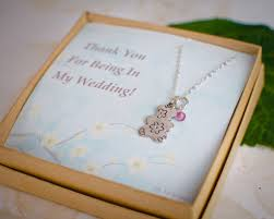 flower girl teddy gift teddy necklace flower girl gift necklace for girl